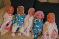 Dementia dolls waiting for their new homes