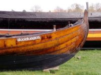 A boat like the Vikings made it.