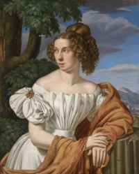 Heinrich Maria von Hess  -Portrait of a Lady set against a landscape