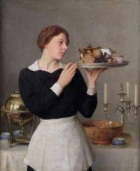 "William McGregor Paxton, ""The Waitress"", 1923"