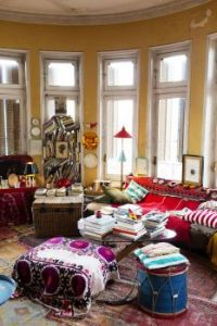 Boho with Yellow Walls