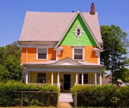Green and Orange House