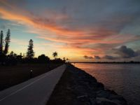 sunset over fort pierce inlet