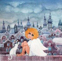 Andělka s kočičkou_Z.Honsová