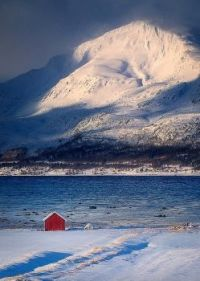 """A little red house by the sea"""