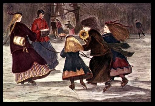 Skating in Winter by Winslow Homer