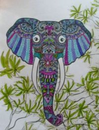 Elephant 4 - coloring book