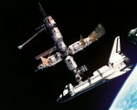 Docked in space