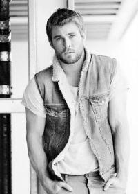 Chris Hemsworth in lambskin