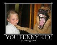 HILARIOUS DOG LAUGHING AT KIDS JOKE VERY FUNNY