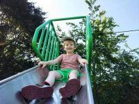 Piggly on the Big Boy Slide