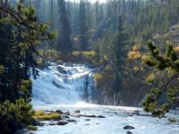 Lewis River falls, Yellowstone National Park, Sept. 2012