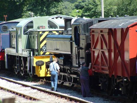 Locomotives at Norchard, DFR