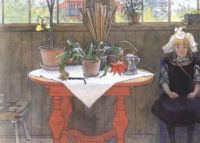 "Carl Larsson, ""Lisbeth in the Atelier"""