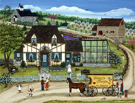 Artist Sharon Ascherl..Viviens Cottage Shop