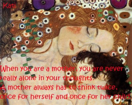 Klimt... mother and child.