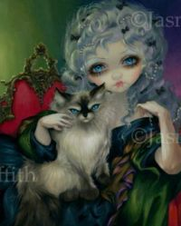 Princess with a Ragdoll Cat - Jasmine Becket-Griffith