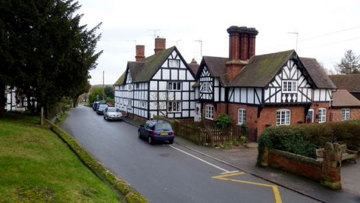 Village houses, Church Lench, Worcestershire.  Photo by Jonathan Billinger