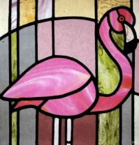 For Joanie. Stained glass flamingo!!