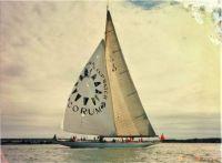 Velsheda off Gurnard Ledge July 1987