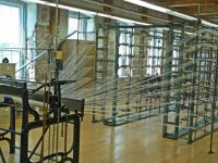 C5 - Example of initial setup of weaving machine in weaving museum in Amana Colonies, Iowa, July 2016