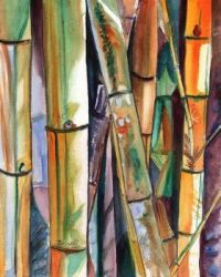 Watercolor Bamboo