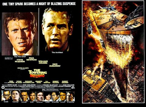 THE TOWERING INFERNO - PAUL NEWMAN & STEVE MCQUEEN