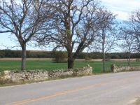 Rock Fence On Hwy. 177 In The Valley Of The South Fork Of The Cottonwood River Near Matfield Green, Kansas
