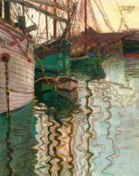 'Harbor of Trieste', 1907