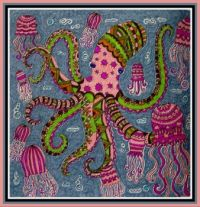 Art - Colouring - Nature - Sea / Ocean - Octopus & Jellyfish (Small)