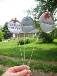 GARDEN IDEAS...HERB AND PLANT MARKERS...