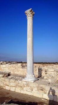 column at Kourion Archeological Site, Cyprus
