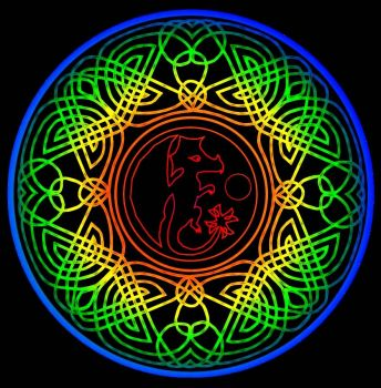 Celtic dragon mandala