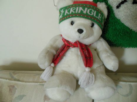 Kringle Bear wishes Hester a Happy Birthday
