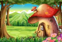 27137605-illustration-of-a-forest-with-a-mushroom-house