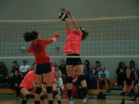 olivia blocking that ball...