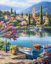 Village Lake Afternoon