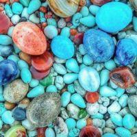 Beautiful stones of Hurmuz Island in the Persian Gulf, Iran