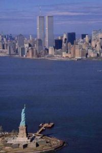 Manhattan and Twin Towers before 9/11 attack