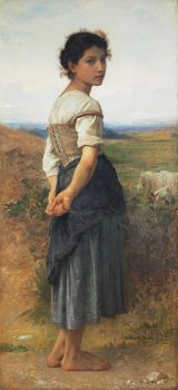 The Young Shepherdess by William-Adolphe Bouguereau