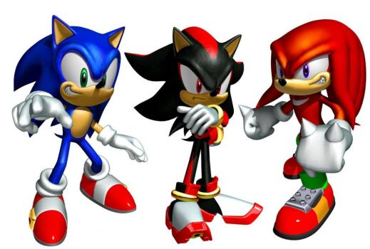 Sonic, Knuckles and Shadow