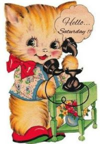 Themes Vintage illustrations/picture - Hello Saturday