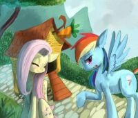 MLP: Fluttershy and Rainbow Dash