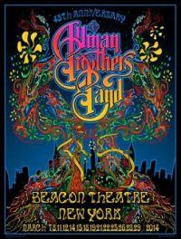 Concert poster Beacon Theater, New York 2014
