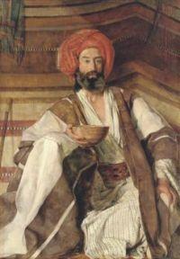 John Frederick Lewis (British, 1805–1876),  An Arab of the Desert of Sinai (1858)