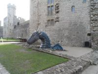 Dragon at Caernarfon Castle
