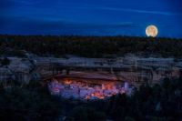 Full moon over mesa verde