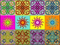 Suns, tiles and colours  :)) I