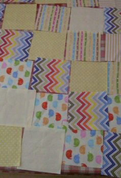 Fabrics for the quilt