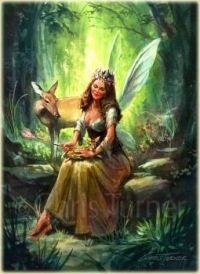 Fairy Helping the Fawn (Ex. Large)